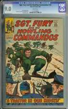 SGT. FURY AND HIS HOWLING COMMANDOS #32 CGC 9.0 WHITE PAGES // SILVER AGE WAR