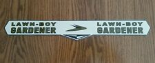 Reproduction lawn boy 1950s gold hobby gardener adhesive decal.  00006000