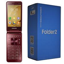 New Samsung Galaxy Folder 2 SM-G1650 16GB Red Flip Factory Unlocked 4G Simfree
