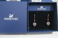 Swarovski Starlet Pierced Earring Heart Love Purple Crystal MIB - 1160550
