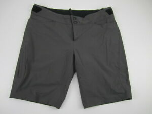 Womens Large Specialized Andorra Comp Shorts cycling MTB stretch gray unlined