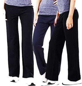 Cotton Stretch Tracksuit Bottoms Plus Size Sports Gym Joggers Open Hem Pants G16