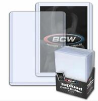 New 200 BCW 3x4 Standard Toploader Card Holders (8 Packs Of 25 Toploaders)