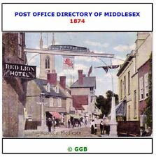 POST OFFICE DIRECTORY OF MIDDLESEX 1874 CD ROM
