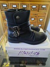 Blowfish Malibu Vegan Faux Leather Fur Lined Biker Boots Size 7 BNIB