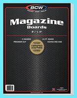 """25 BCW MAGAZINE SIZE 8.5"""" x 11"""" BACKING BOARDS Storage White Backer 24pt 8-1/2"""""""