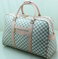 Large Designer Inspired Holdall Weekend Luggage Duffel Cabin Travel Case Bag CR