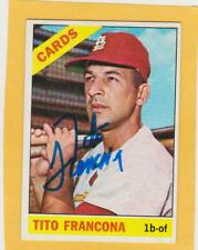 autographed TITO FRANCONA 1966 TOPPS  # 163 CARDS  EX+
