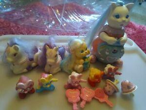 Vintage 80s, 90s Tonka Keypers cat, bear, horse, friends + accessories