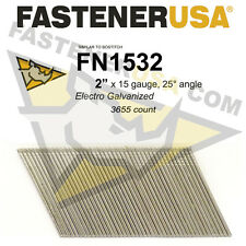 "FN1532 15 gauge Angled Finish Nails 2"" (FN1500 series) 25 degrees 3655ct"