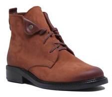 Justin Reece para Mujeres con cordones militares tobillo bota de cuero en tan Size UK 3 - 8