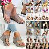 Women Platform Espadrille Sandal Slip On Shoes Beach Flip Flop Peep Toe Slippers