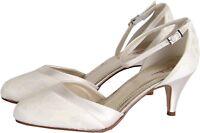 Gorgeous Rainbow Club Penny Ivory Satin Bridal Wedding Shoes.New in Box!Size 3-6