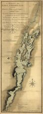 """10"""" x 24"""" 1765 Map A survey of Lake Champlain including Crown Point and St."""