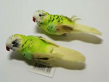 2 Deko Wellensittich grün Vögel am Clip  Dekovogel Vogel Frühlingsdeko exotisch