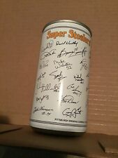 STEELERS AUTOGRAPHED IRON CITY BEER CAN