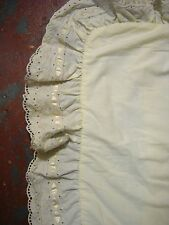 Beautiful Vintage Fieldcrest cream lace standard soft Pillow Sham Free shipping