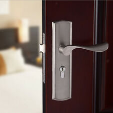 ENTRANCE LONG BACKPLATE LEVER HANDLE DOOR SET MODERN STYLE LOCK HARDWARE #1