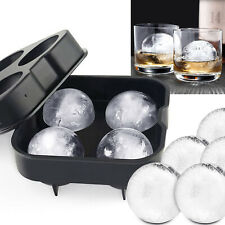 Large Ice Cube Tray Balls Maker Big Silicone Mold Sphere Whiskey DIY Round Mould