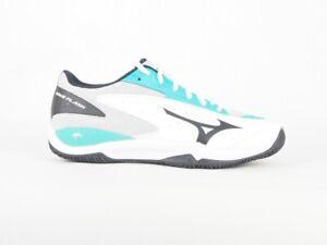 Mens Mizuno Wave Flash Lace Up Sports Teniis Padel White Trainers
