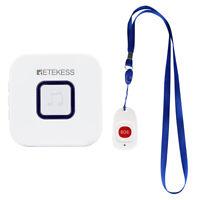 Retekess Elderly Wireless Calling System SOS Button+Wireless Doorbell Receiver