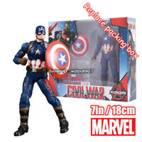 Captain America Marvel Avengers Legends Comic Heroes 7in Action Figure Kids Toys