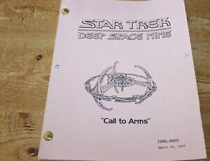 Star Trek DEEP SPACE NINE TV SERIES SHOW SCRIPT EPISODE CALL TO ARMS
