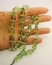 Caribbean Amber 33 Oval Plum Beads Islam Prayer Beads Misbaha Tasbih 30 g