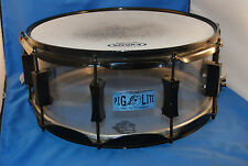 "Pork Pie Percussion Pig LITE Clear Acrylic Snare Drum 14"" (113476b)"