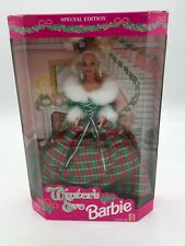 Special Edition Winters Eve Barbie In box 1994 dress Christmas Plaid