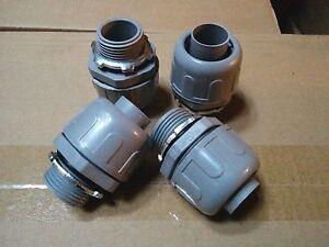 """25 pc Liquid Tight Connector Straight Nonmetallic Plastic 1/2"""" Sealtight"""