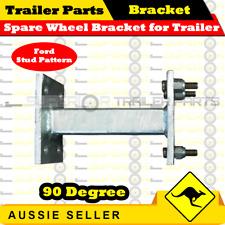 Spare Wheel Bracket Carrier Galvanised 90 Degree for Trailer (Ford Stud Pattern)