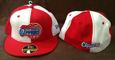 "New Era 59FIFTY NBA Fitted Hat LOS ANGELES ""Clippers"" Red/White Size 7 1/4"