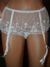 Exquisites Glanz Nylon Spitzen Straps Höschen 48-50 Strapsslip Panty ivory (E128