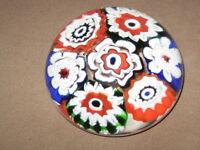 Millefiori Style Art Glass Paperweight