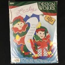 NEW Design Works Felt Applique Stocking Kit #5084 Karen Harran Elves Christmas