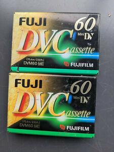 2 x Fuji Mini DV 60 tapes  DVM60CME