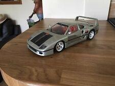 Hot Wheels ferrari F40, 1:18 Silver Unboxed