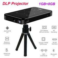 Mini DLP Projector Android 2.4/5Ghz WiFi+BT4.1 Home Theater 1GB+8GB Multimedia
