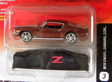 Johnny Lightning 3/6R1 Legends 1970 Chevy Camaro Z/28 Red-Brown Six Spoke Wheels