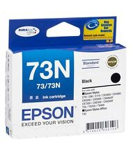 1 x Epson 73N Standard Capacity BLACK  INK Cartridge  C110/T30/40W etc