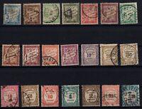 AF142266/ FRANCE – POSTAGE DUE – YEARS 1893 - 1931 USED – CV 175 $