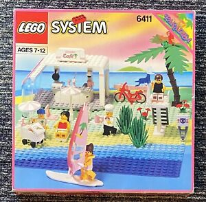 Lego Set 6411 Sand Dollar Cafe Paradisa Town Complete w/ Box Manual & Poster
