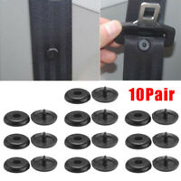 10pcs Auto Clip Seat Belt Stopper Buckle Button Fastener Safety Car Accessories