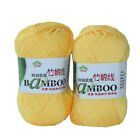 4*50g Skeins Soft Smooth Natural Bamboo Cotton Yarn lot;Sport;200g; yellow