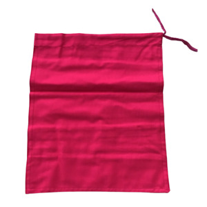 1 Heavy Duty Cash Deposit Bag Red Money Draw String Cloth Bank Coin Retail UK