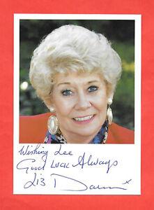 Liz Dawn Signed Photocard Coronation Street
