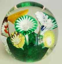 "Vtg Mid Century Murano Fratelli Toso Wild Flower Garden 4"" Art Glass Paperweight"