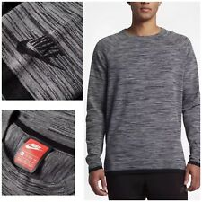 Nike Sportswear Tech Knit Crew Men's Sweatshirt Top Grey Size XL 832182-091