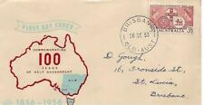 Fdc 1956 100 Years of Government Fdi 26 Se 1956 Brisbane Qld Postmark